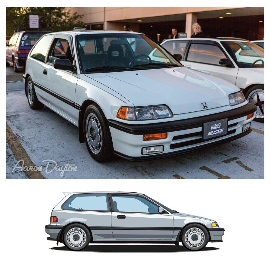 1989 Honda Civic Si J7artwork