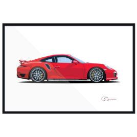 2011 Porsche 911 Turbo S 991 Print