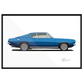 1969 Plymouth Barracuda Fastback Print