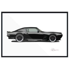70 Pontiac Firebird black