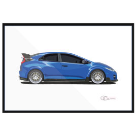 14 Honda Civic Type R blue