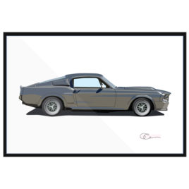 68 Ford Mustang GT500 Fastback Elanore Gray