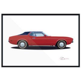 73 Ford Mustang Grande Orange