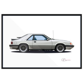 85 Ford Mustang SVO Turbo Silver
