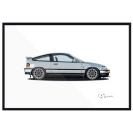 1990 Honda CRX Si Print