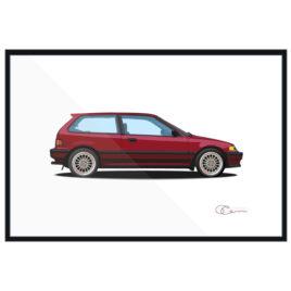 1989 Honda Civic Si Print