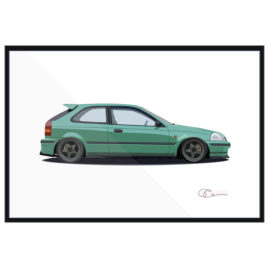 1996 Honda Civic Hatchback Print