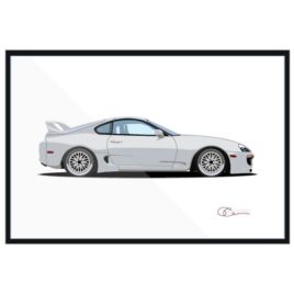 1998 Toyota Supra (Angel Tribute) white