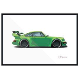 Porsche 911 964 RWB Green