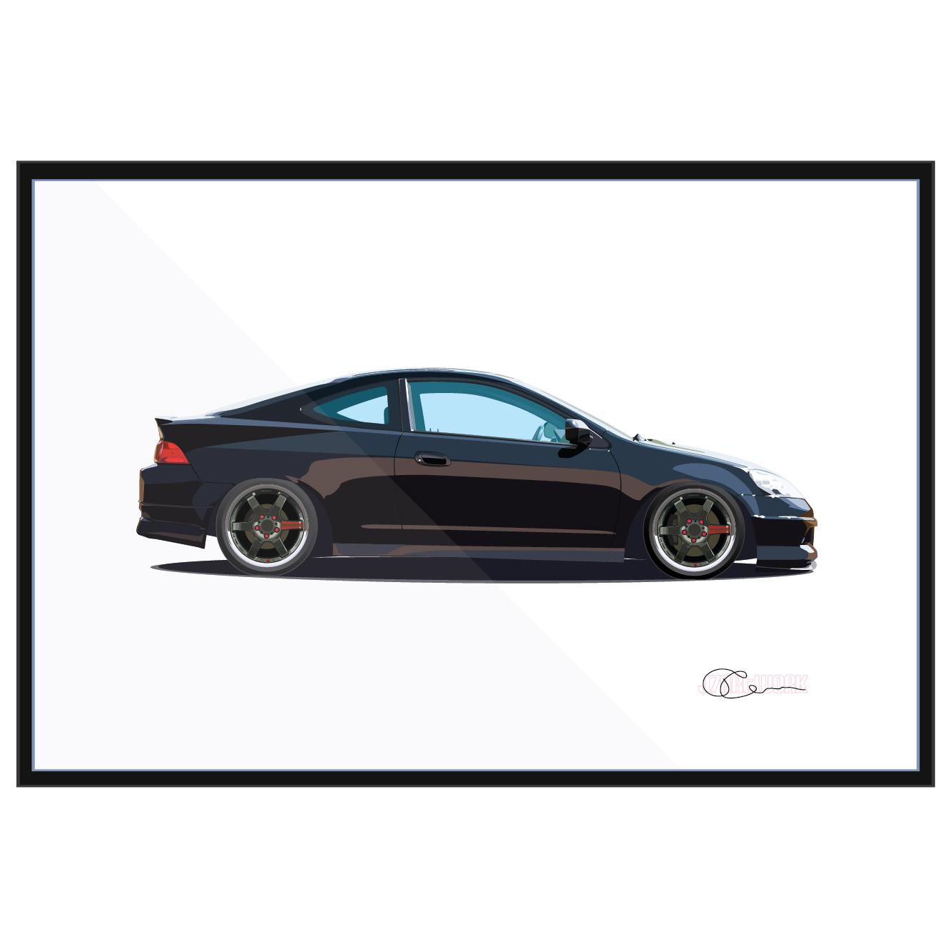 04 Acura RSX Volk Black