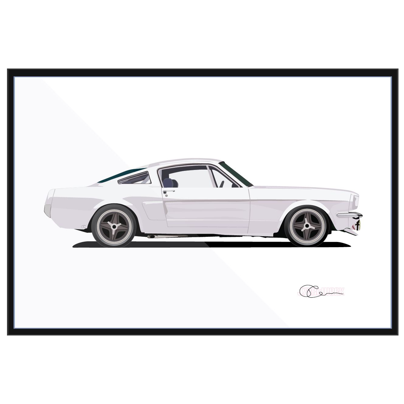 65 Ford Mustang Fastback White