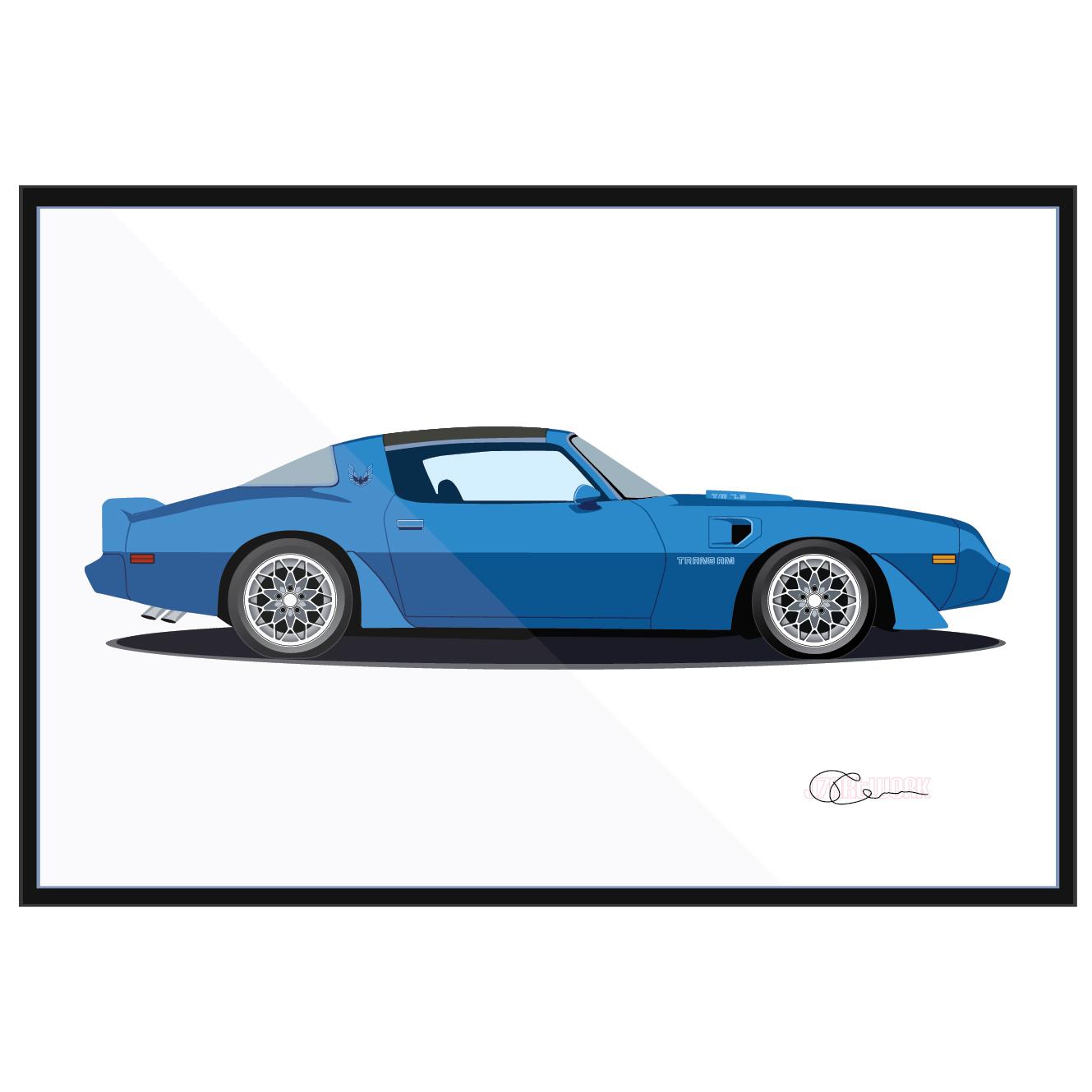 79 Pontiac Firebird Trans Am Blue Longmire Ferguson J7Artwork
