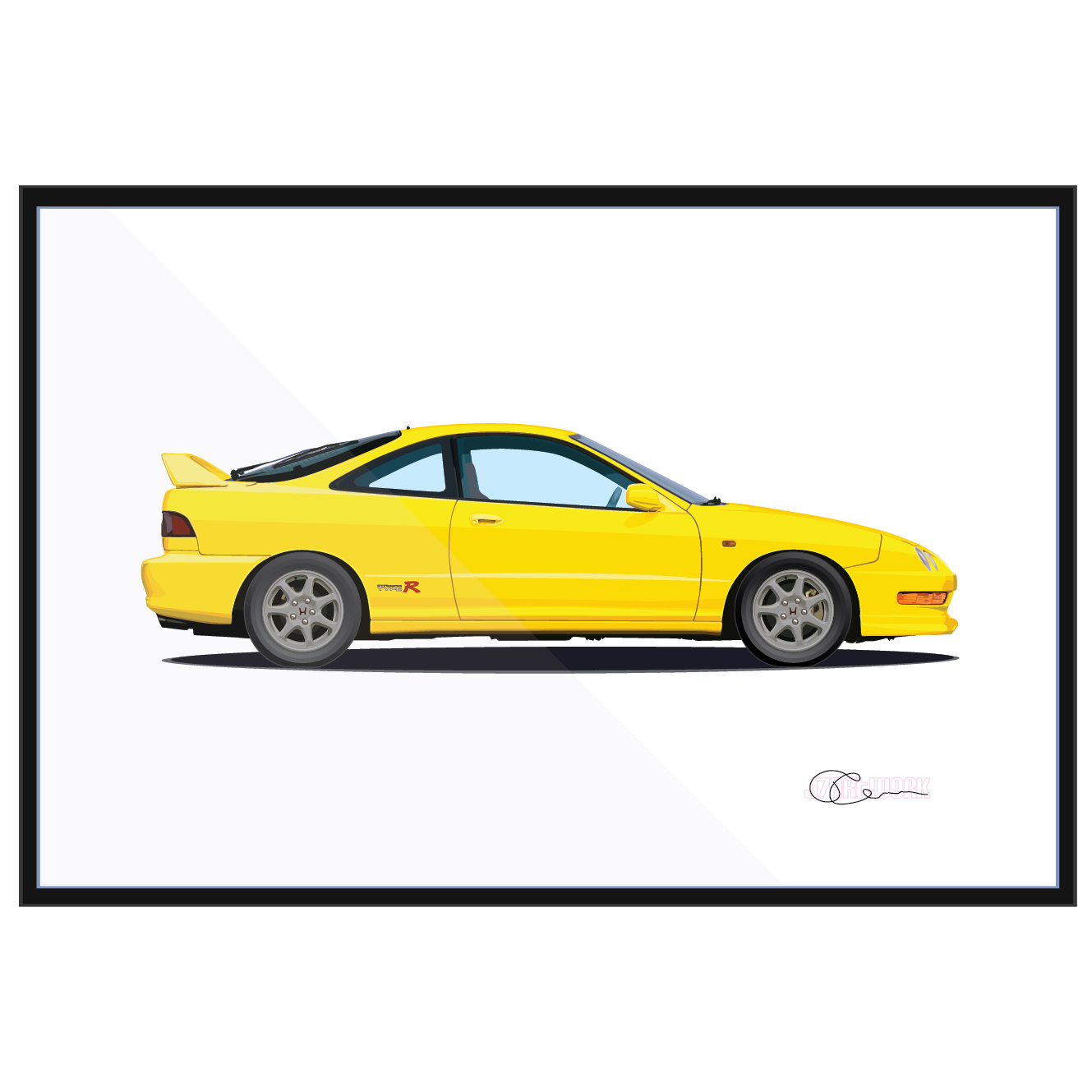 1999 Acura Integra Type R Print (Phoenix Yellow)