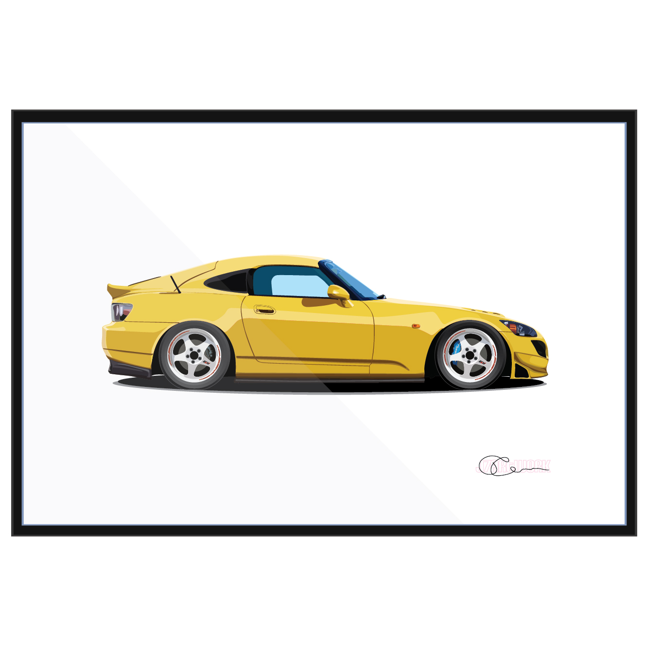Honda S2000 Spoon Yellow
