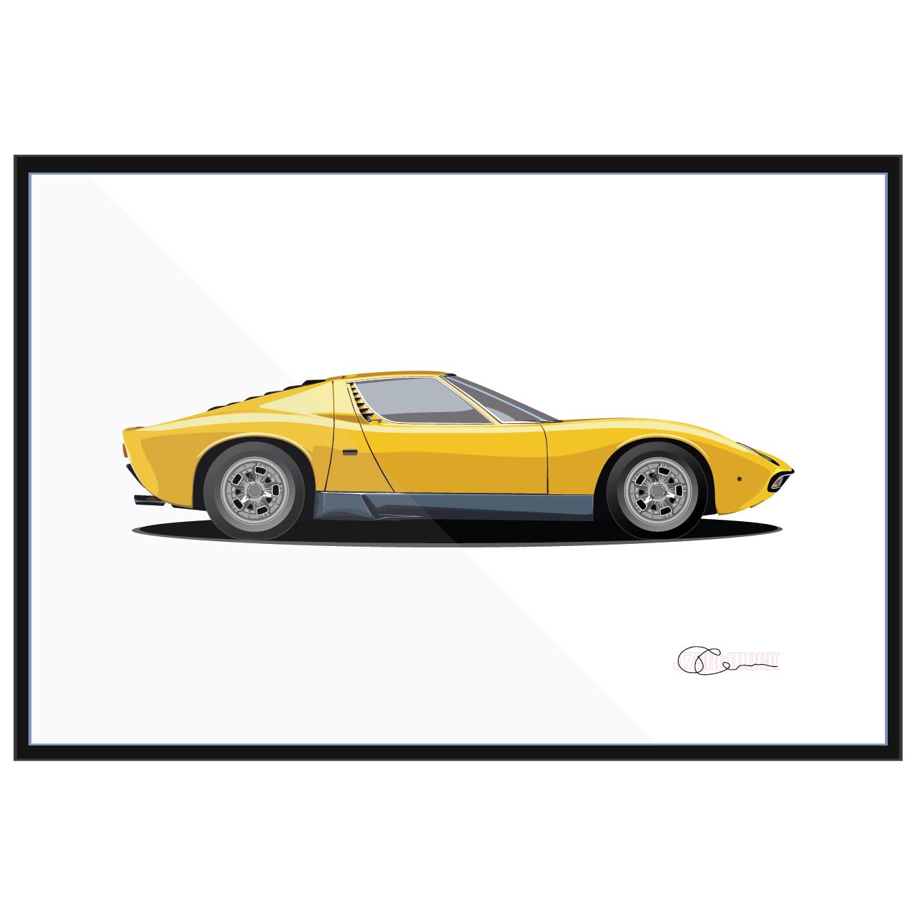 Lamborghini Miura Yellow J7artwork