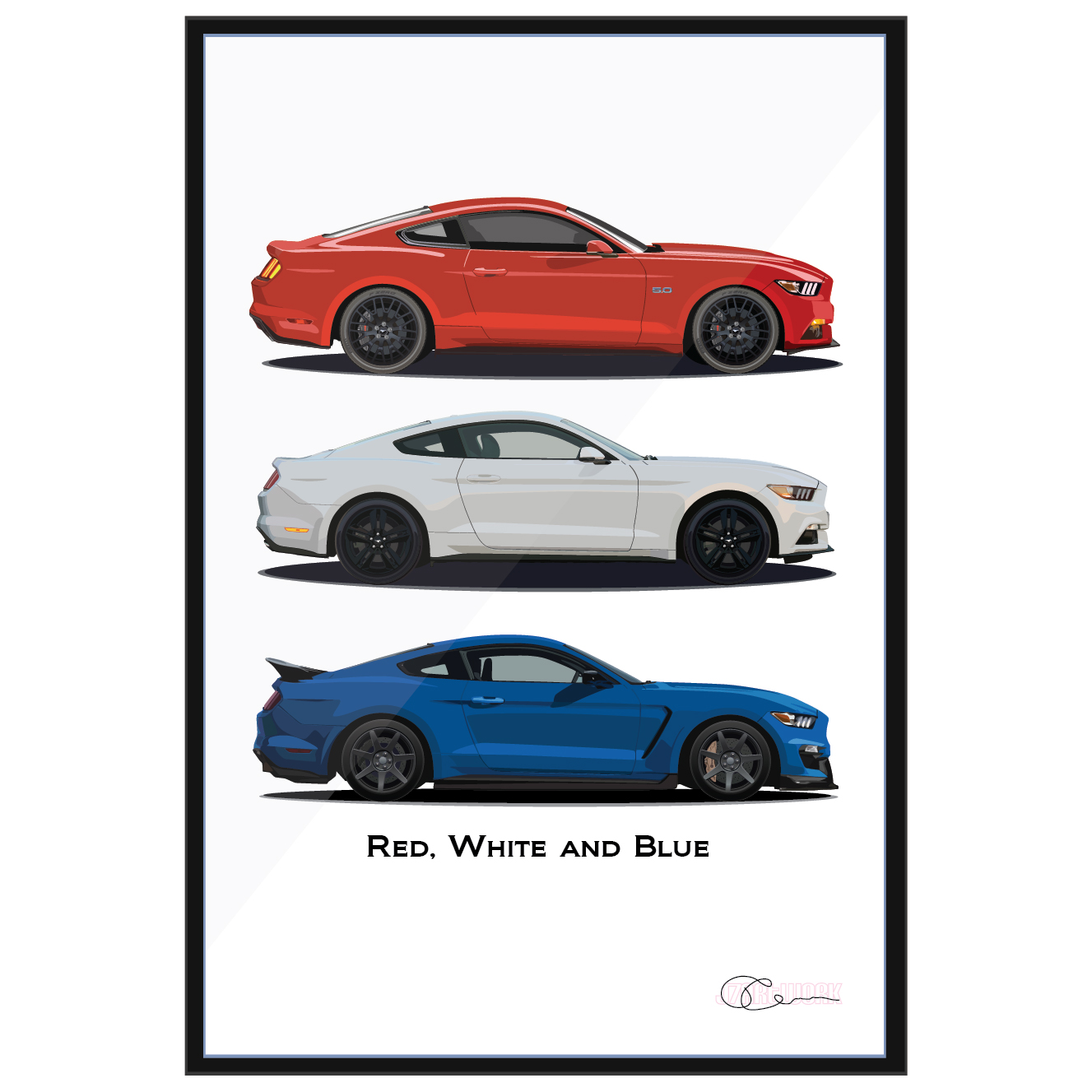 Red White And Blue S550 Mustangs J7artwork